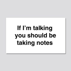 You should be taking notes Wall Decal