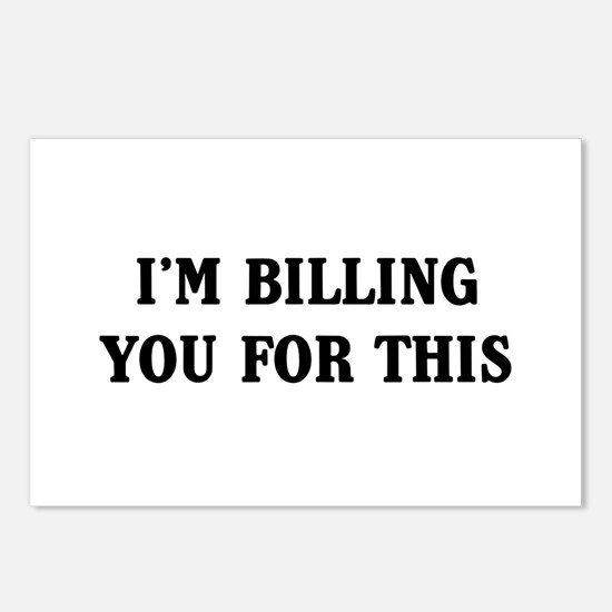 I'm billing you for this Postcards (Package of 8)