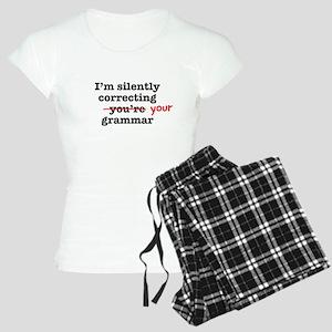 Silently correcting grammar Pajamas