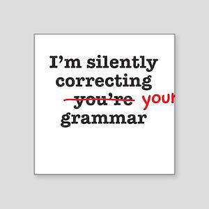 Silently correcting grammar Sticker