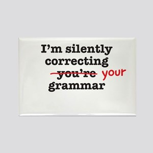 Silently correcting grammar Magnets