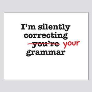 Silently correcting grammar Posters