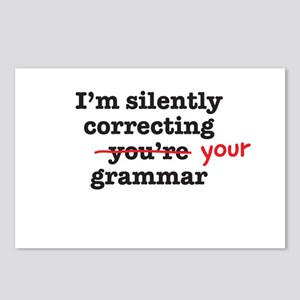 Silently correcting grammar Postcards (Package of