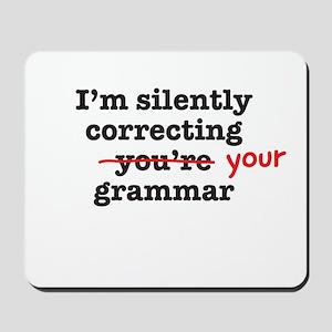 Silently correcting grammar Mousepad