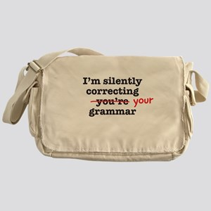 Silently correcting grammar Messenger Bag