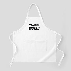 It's accrual world Apron