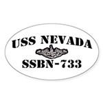 USS NEVADA Sticker (Oval)