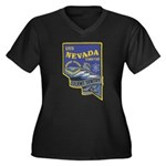 USS NEVADA Women's Plus Size V-Neck Dark T-Shirt