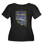 USS NEVA Women's Plus Size Scoop Neck Dark T-Shirt