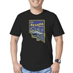 USS NEVADA Men's Fitted T-Shirt (dark)