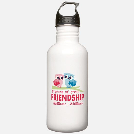 6th anniversary couple Water Bottle