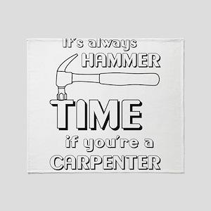 Hammer time carpenter Throw Blanket