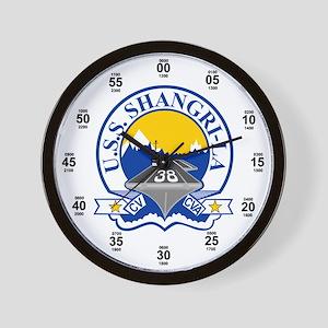 USS Shangri-La CV-38 Wall Clock