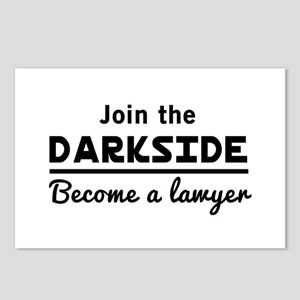 Join the darkside lawyer Postcards (Package of 8)