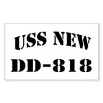 USS NEW Sticker (Rectangle)