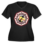 USS NEW Women's Plus Size V-Neck Dark T-Shirt