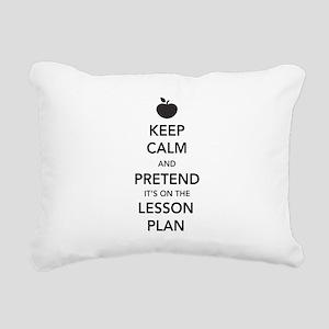 keep calm pretend lesson plan Rectangular Canvas P