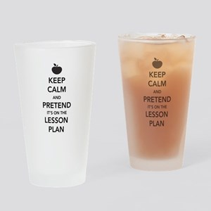 keep calm pretend lesson plan Drinking Glass