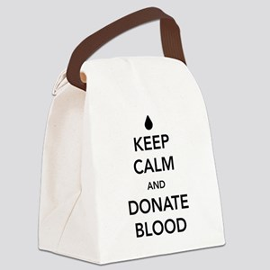 Keep calm and donate blood Canvas Lunch Bag