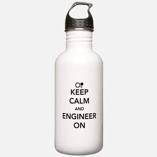 Keep calm and engineer on Water Bottle