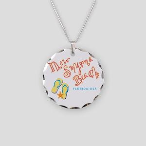New Smyrna Beach - Necklace Circle Charm