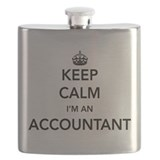 Funny accountant Flask Bottles