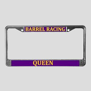 Barrel Racing Queen License Plate Frame