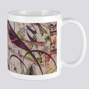 butterfly vintage robin paris botanical art Mugs