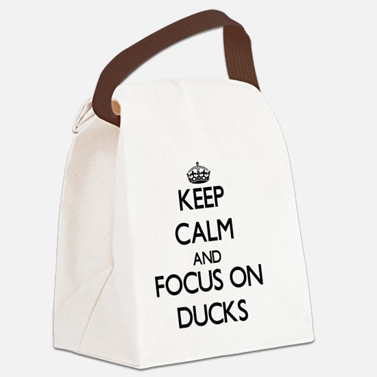 Funny Calm dive Canvas Lunch Bag
