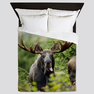 Mr Moose Sticking Tongue Out Queen Duvet