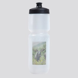 Mr Moose Sticking Tongue Out Sports Bottle