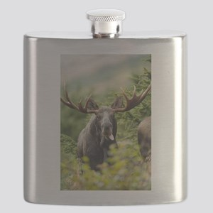 Mr Moose Sticking Tongue Out Flask