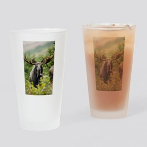 Mr Moose Sticking Tongue Out Drinking Glass