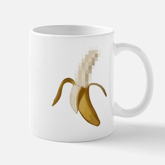 Dirty Censored Peeled Banana Mugs