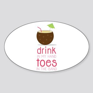 Drink in my Hand Toes Sticker