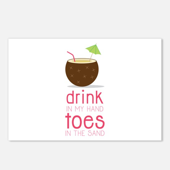 Drink in my Hand Toes Postcards (Package of 8)