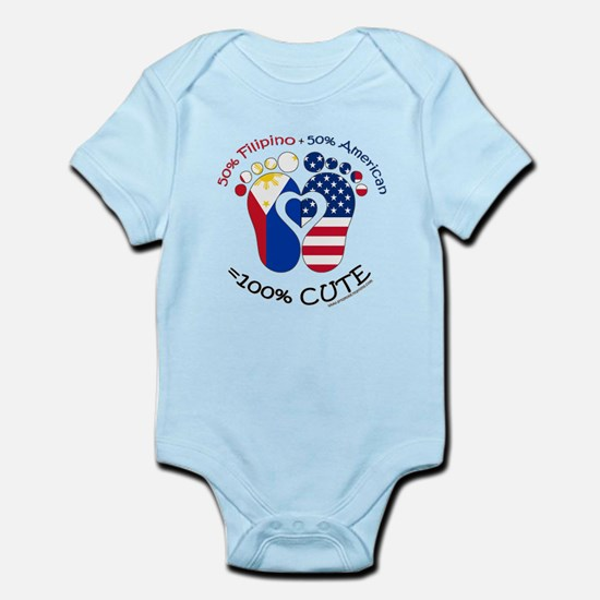 Filipino American Baby Body Suit