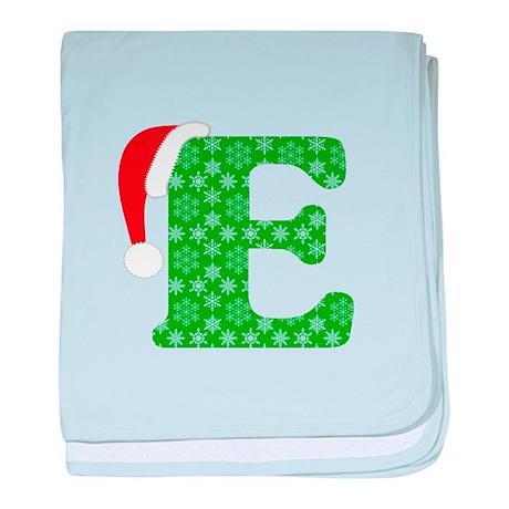Christmas Monogram Letter E baby blanket by designsanddesigns