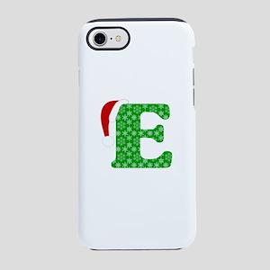 Christmas Monogram Letter E iPhone 7 Tough Case