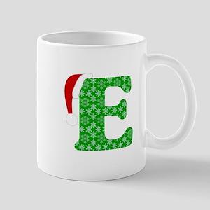 Christmas Monogram Letter E 11 oz Ceramic Mug