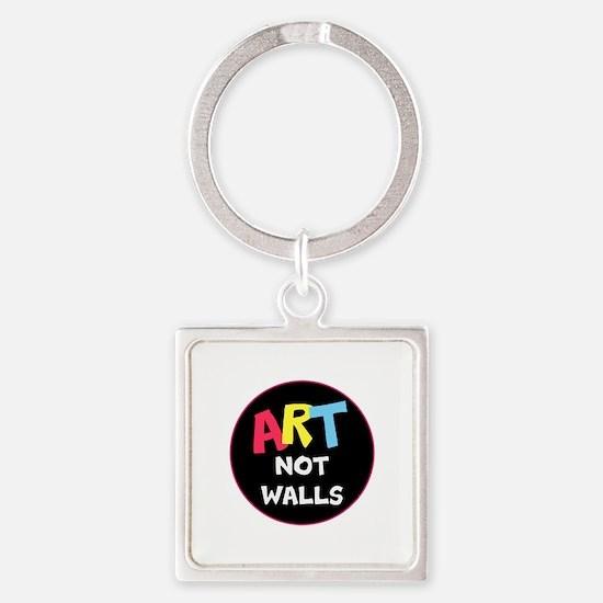 Art not Walls, no trump Keychains