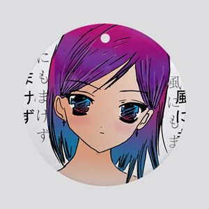 Anime girl Ornament (Round)