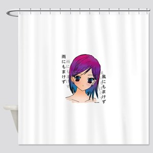Anime girl Shower Curtain