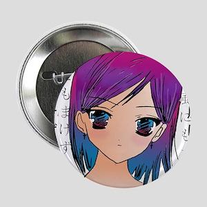 """Anime girl 2.25"""" Button"""