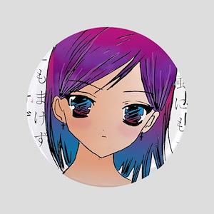 """Anime girl 3.5"""" Button"""