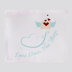 Love Gives You Things Throw Blanket
