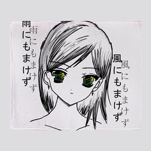 Anime girl 2 Throw Blanket