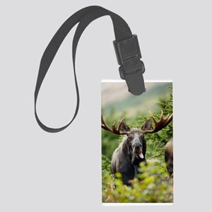Mr Moose Sticking Tongue Out Luggage Tag