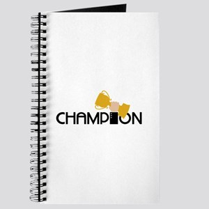 Champion Holding Trophy Journal