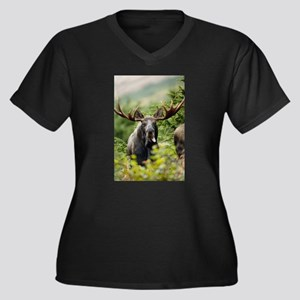 Mr Moose Sticking Tongue Out Plus Size T-Shirt